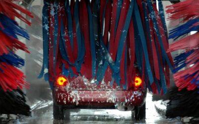 Fahrzeugwäsche im Winter