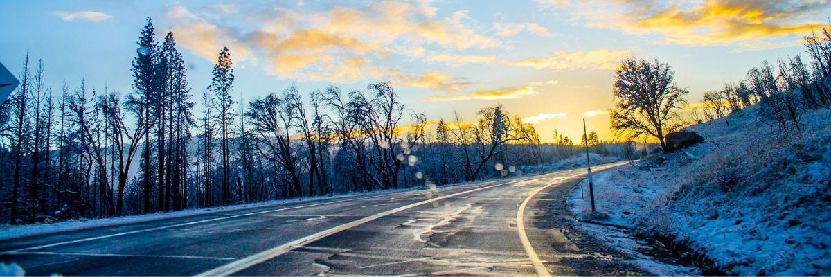 Oldtimer-Fahrt im Winter